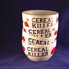 Cereal Killer Cereal Bowls Set.