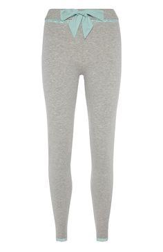 Primark - Graue Jersey-Pyjamaleggings mit Besatz