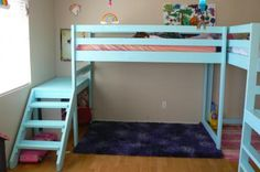 Deciding to Buy a Loft Space Bed (Bunk Beds). – Bunk Beds for Kids Loft Bed Stairs, Loft Bunk Beds, Modern Bunk Beds, Bunk Beds With Stairs, Kids Bunk Beds, Bunk Rooms, Double Loft Beds, Triple Bunk Beds, Loft Spaces