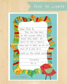 M will love writing on this pretty stationary. free printable from children inspired design