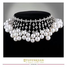 @tufenkjian. It's time to fall in love with our new Autumn Collection of Pearls! What do you think of this Pearly Choker? �#Tunfenkjian #jewelry