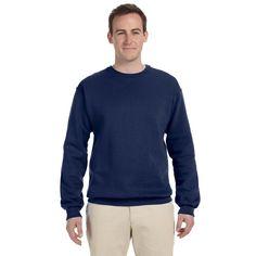 50/50 Nublend Fleece Men's Crew-Neck J Navy Sweater