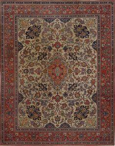 Matt Camron Rugs & Tapestries - Antique Collection - Antique Persian Esfahan Rug - 15355HA