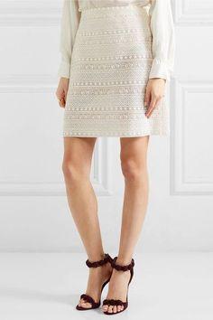 GIAMBATTISTA VALLI Cotton-blend lace skirt