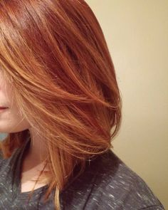 Red with strawberry blonde highlights