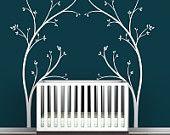 Vineyard Canopy - Wrought Iron Inspired - Headboard Wall Sticker