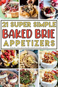Spoil yourself with one of these  20+ sweet or savory decadent and beyond delicious baked Brie Appetizers. Deliciousness doesn't get any easier than this ooey gooey melted Brie goodness. Baked Brie Appetizer, Best Party Appetizers, Delicious Desserts, Dessert Recipes, Easy Weeknight Dinners, Diy Thanksgiving, Baking, Eat, Breakfast