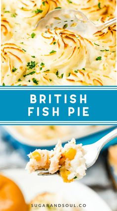 This Easy Fish Pie is inspired by the classic British dish. It's loaded with flaky salmon, tender veggies, and topped with creamy mashed potatoes for an easy dinner option! Uk Recipes, Fish Recipes, Seafood Recipes, Retro Recipes, Summer Recipes, Creamy Fish Pie, Pie And Mash, British Dishes, Fish Dishes