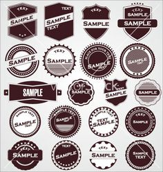 Labels with retro design vector