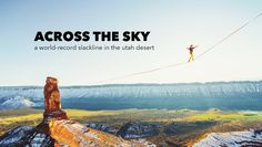Théo Sanson walked nearly 500 meters on a slackline rigged from The Rectory to Castleton Tower in Castle Valley, Utah.