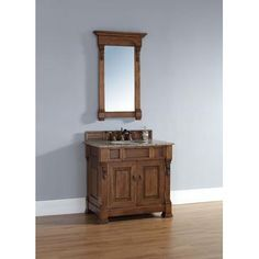 """James Martin Brookfield 36"""" Single Cabinet In Country Oak from BEYOND Stores brings elegance to your bathroom decor immediately. Looking to amp up your bathroom decor in a big way? Check out all we have to offer at Beyond Stores #homedecor #bathroomdecor #bedroomdecor"""