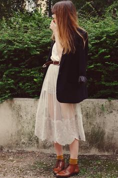 Lady Moriarty: Dark j'adore cream lace dress