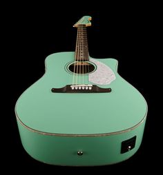Acoustic /Electric Guitar: Fender Sonoran SCE Surf Green