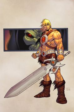 He-Man colour commission from John Wycough from a long while back. keep finding all these commission pieces that I need to upload! He-Man Old School Cartoons, 90s Cartoons, Gi Joe, Comic Books Art, Comic Art, He Man Thundercats, Nicky Larson, The Lone Ranger, Deadpool