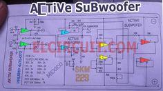 Schematic diagram Active Subwoofer Circuit