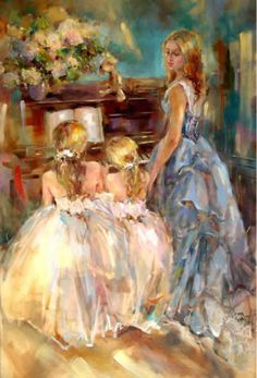 Anna Razumovskaya ღ...looks like my second oldest daughter, teaching her younger sisters! :) <3