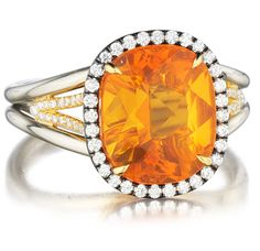 Fire Opal Cocktail Ring available at Houston Jewelry!