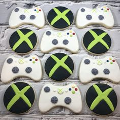Nintendo Cake, Xbox Cake, 13th Birthday Boys, 13th Birthday Parties, Xbox Party, Minecraft Birthday Party, Video Game Cakes, Video Game Party, Pusheen Birthday