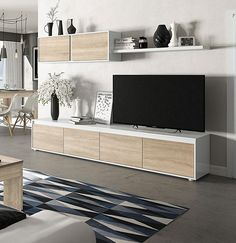 Nordic Living Room, Ikea Living Room, Home And Living, Living Rooms, Small Flat Decor, Living Room Tv Cabinet, Tv Stand Designs, Living Room Tv Unit Designs, Accent Walls In Living Room