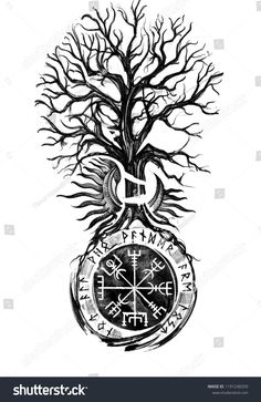 Find Viking Tree Traditional Vegvisir Historical Sun stock images in HD and millions of other royalty-free stock photos, illustrations and vectors in the Shutterstock collection. Thousands of new, high-quality pictures added every day. Viking Tattoo Symbol, Warrior Tattoos, Tattoos, Celtic Tattoos, Vikings, Norse Mythology Tattoo, Mythology Tattoos, Viking Warrior Tattoos, Symbolic Tattoos