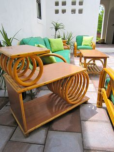 Tropitan by Ritts Rattan End Table by Mod Betty / RetroRoadmap.com, via Flickr