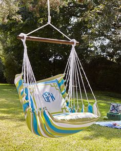 Monogrammed Chair Swing