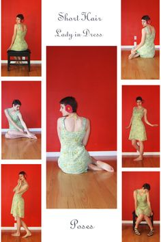 STOCK - Short hair Lady in dress by LaLunatique