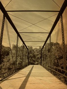 Vintage Elk River iron bridge -    		Elk Falls, Kansas