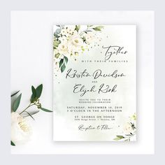 Items similar to Wedding Invitation Suite Wedding Invitation Sets, Invitation Suite, Shower Invitations, Invites, Bridal Shower Welcome Sign, Wedding Welcome Signs, Wedding Signs, Cream Roses, Blush Roses