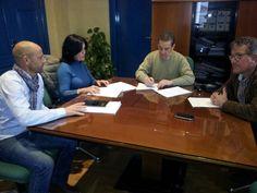 """Ayuntamiento y Samaniego firman un convenio para la cesión del Pabellón """"Pedro Agustín Pérez"""""""