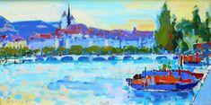 "Walter Meier 1921 - 1985  ""Genève"". 1952 Painting, Art, Switzerland, Art Background, Painting Art, Kunst, Paintings, Performing Arts, Painted Canvas"
