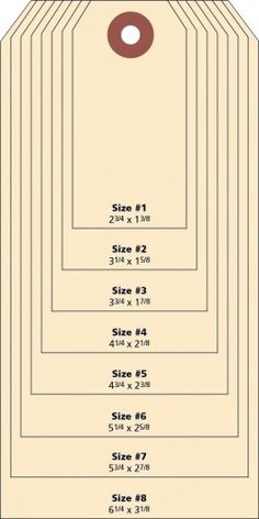 Tag Size Chart Is Always A Handing Thing To Have This