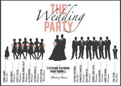 wedding party program
