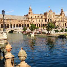 Plaza de España,  en Sevilla