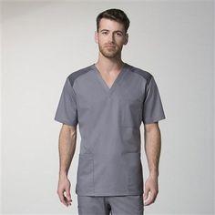 62 Ideas Medical Scrubs Eon For 2019 Scrubs Uniform, Men In Uniform, Medical Uniforms, Uniform Design, Medical Scrubs, Custom Clothes, V Neck Tops, Men Casual, Mens Tops