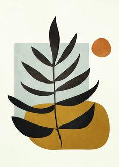Soft Abstract Large Leaf Framed Art Print by City Art - Vector Black - Art And Illustration, Illustrations, City Art, Minimal Art, Wal Art, Abstract Line Art, Diy Canvas Art, Geometric Art, Framed Art Prints