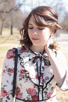 Floral Neck Tie Dress | Greta Hollar