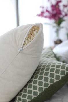 Savvy Rest now offers 3 styles of customizable organic pillows. Just unzip the inner and outer casings and remove any amount of fill to create just-right height and density.
