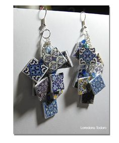 #paper #jewellery #erring #azulejos #Portuguese#Tiles