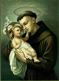 Anthony of Padua with the Baby Jesus Saint Antony, Saint Anthony Of Padua, Religious Pictures, Religious Art, Oracion A San Antonio, Novena Prayers, Jesus Christ Images, Religion Catolica, The Cross Of Christ
