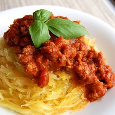 "How to Make ""Spaghetti"" with Spaghetti Squash- this is a great way to eat a healthier, low carb version of spaghetti."