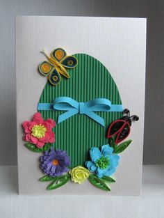 Quilling Easter Cards - Pelicitari de Paste And here are the expected model with several variations of colors. Handmade Crafts, Diy And Crafts, Crafts For Kids, Quilling Cards, Paper Quilling, Easter Crafts, Diy Cards, Happy Easter, Note Cards
