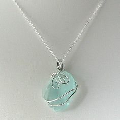 Beach glass necklace ideas-for-jewelry-making