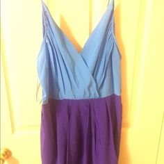 Color Block Tulip Hem Dress
