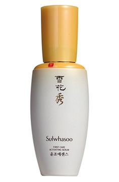 Sulwhasoo 'First Care' Activating Serum at Nordstrom.com. Sulwhasoo First Care Activating Serum is an essential regimen boosting serum for ultimate skincare results. Milkvetch promotes natural skin circulation while dwarf lilyturf and licorice boost synergy among herbal extracts to restore skin's healthy radiance.<br><br>How to use: Use as the first step of every skincare routine. Apply after cleansing to rebalance the skin and prepare it to receive all other key...