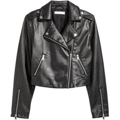 Biker Jacket $29.99 ($30) via Polyvore featuring outerwear and jackets