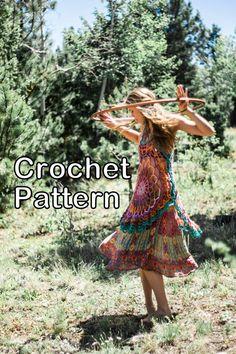 PATTERN for Crochet Mandala Dress