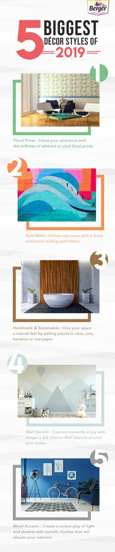 Here are the top decor trends of 2019. Keep the style quotient of your home high, check out our Colour Magazine for latest trends.