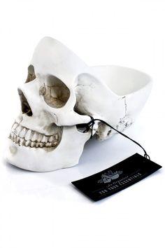 Tidy Skull Organizer available on #RebelCircus #gothic #homedecor