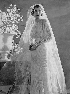Vintage Wedding Gown Knitting Pattern - c. 1930
